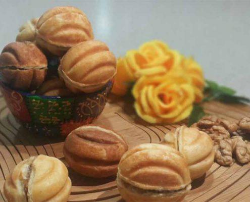 شیرینی گردو روسی در وبسایت سلام شف