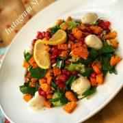 سالاد سبزیجات و کدو حلوایی
