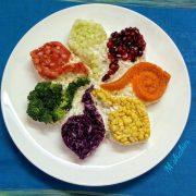 سالاد کلم هفت رنگ